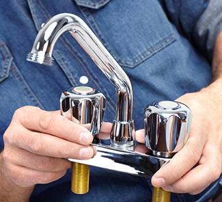 plumbing installation faucet